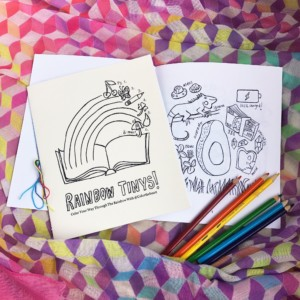 Rainbow Tinys Coloring Book