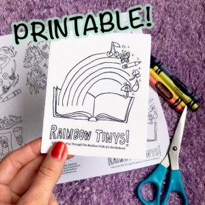 Printable Rainbow Tinys Mini Book