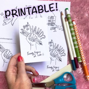 Printable Helping Hands Mini Book